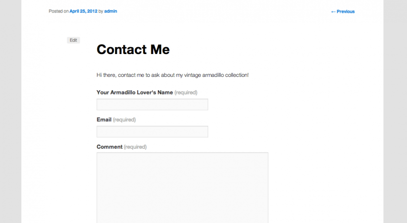 Fast Secure Contact Form, Complete the Contact Form for WordPress