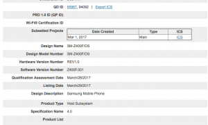 Now, Samsung Z4 is Bluetooth certified