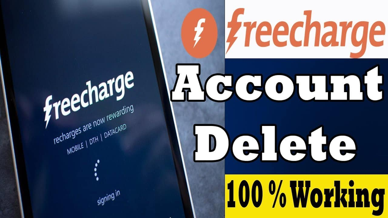 Delete Freecharge Account
